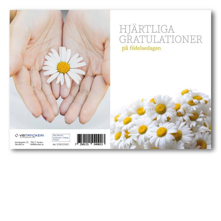 Grattiskort - White Daisy V100.010-01