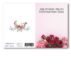 Grattiskort - Pink Roses