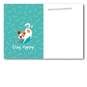 Grattiskort - Happy Dog