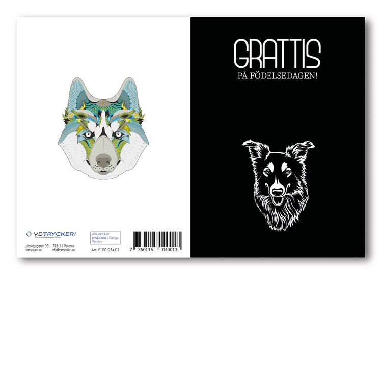 Grattiskort - Black Dog