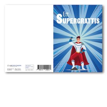 Grattiskort - Superhero