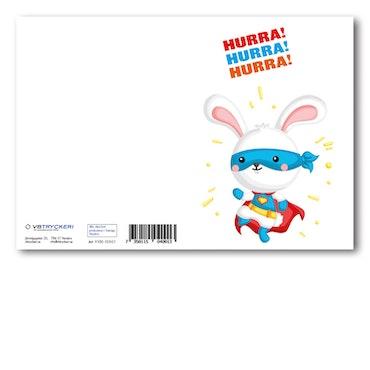 Grattiskort - Happy Rabbit