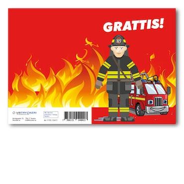 Grattiskort - Firemen
