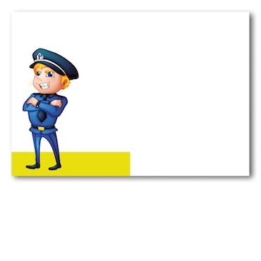 Grattiskort - Police On Road