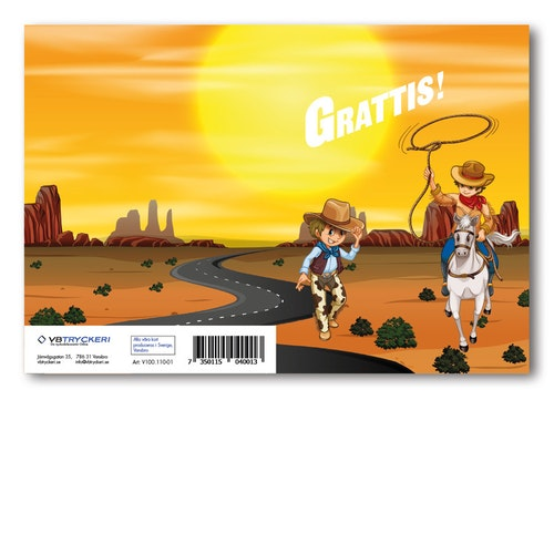 Grattiskort - Wild West
