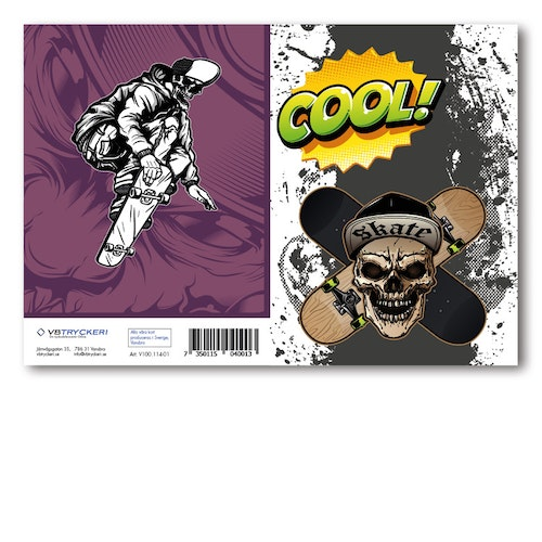 Grattiskort - Cool Skull