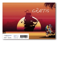 Grattiskort - Pirate Sunset