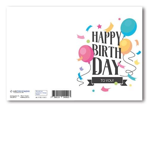 Grattiskort - Happy Birthday