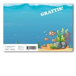 Grattiskort - Under The Water V100.123-01
