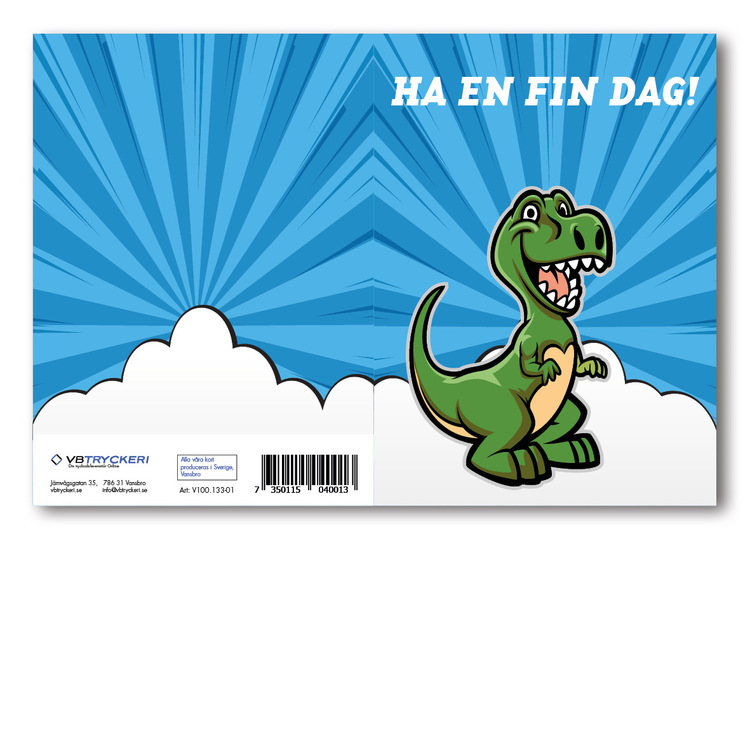 Grattiskort - Dino V100.133-01