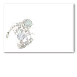 Grattiskort - Skate Skull