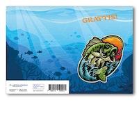 Grattiskort - Fish