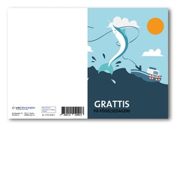 Grattiskort - Fish