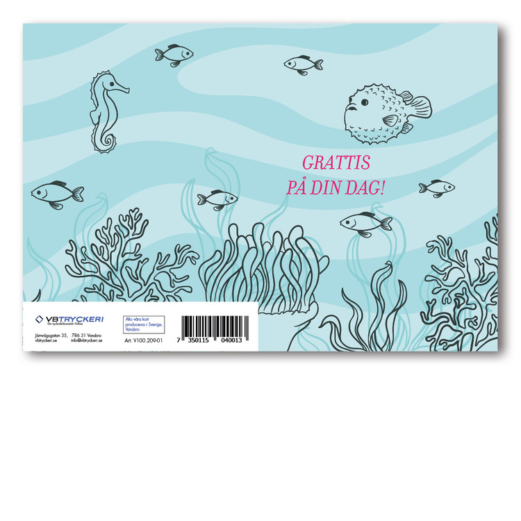 Grattiskort - Fish In Sea
