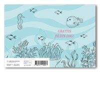 Grattiskort - Fish In Sea