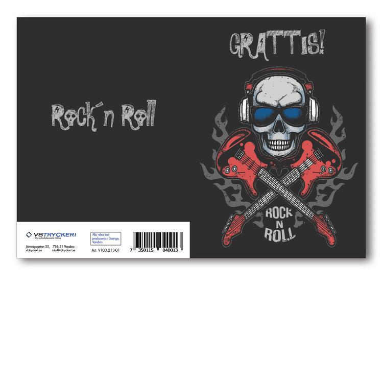 Grattiskort - Rockn Roll Skull V100.213-01