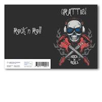 Grattiskort - Rockn Roll Skull