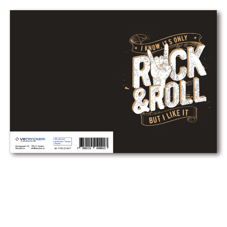 Grattiskort - Rockn Roll V100.214-01