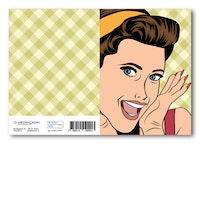 Grattiskort - GLAMOUR Girl Retro