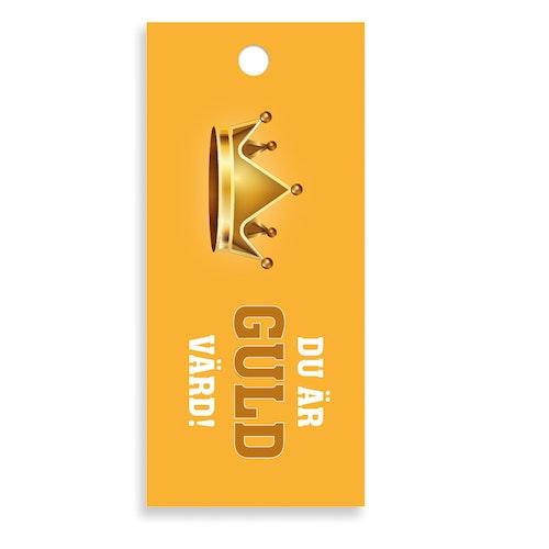 Bukettkort - Guld