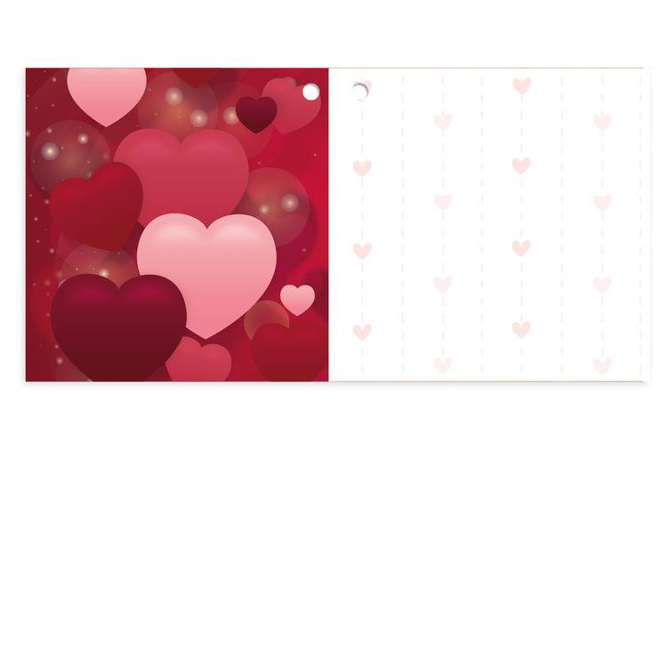 Mellanstort kort - Hjärtan
