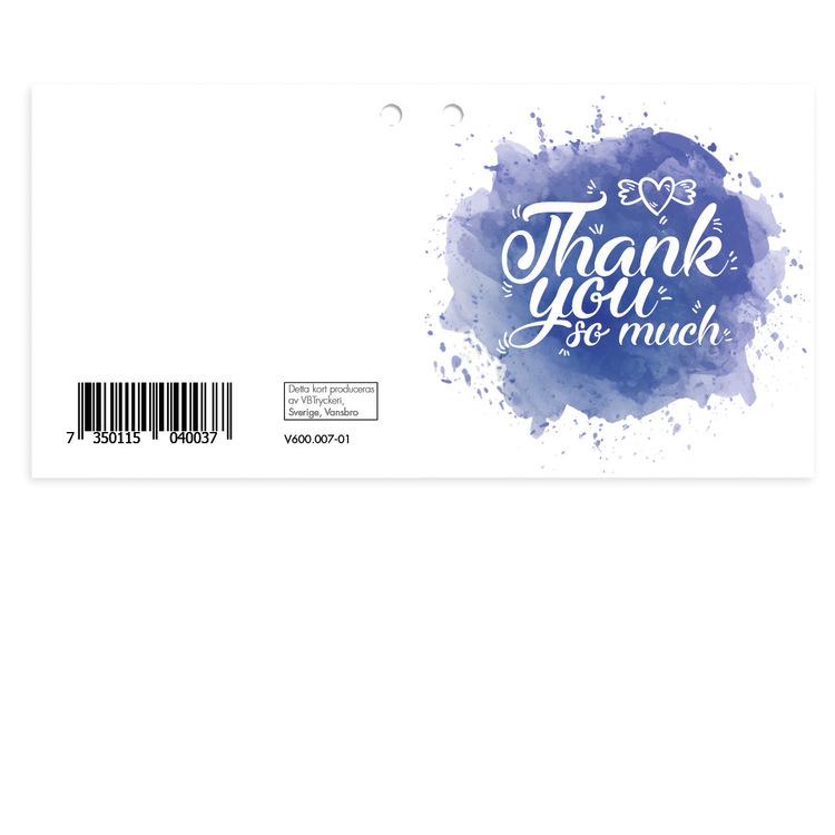 Mellanstort kort - Thank You