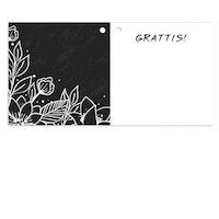 Mellanstort kort - Grattis