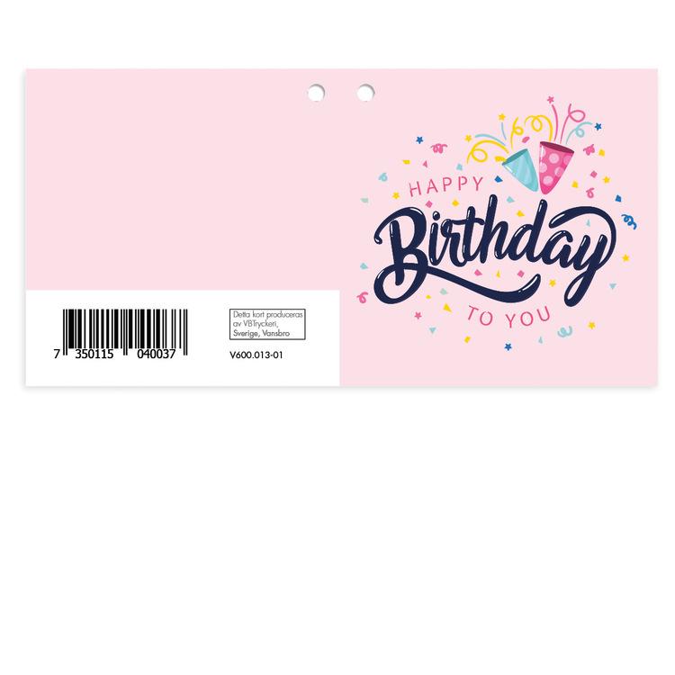 Mellanstort kort - Happy Birthday V600.013-01