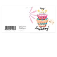 Mellanstort kort - Happy Birthday