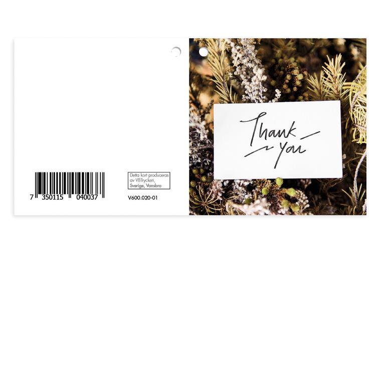 Mellanstort kort - Thank You V600.020-01