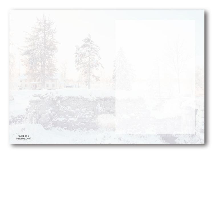 Grattiskort - Snöån utan text V110.002-02