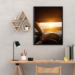 Poster - Car Sunset