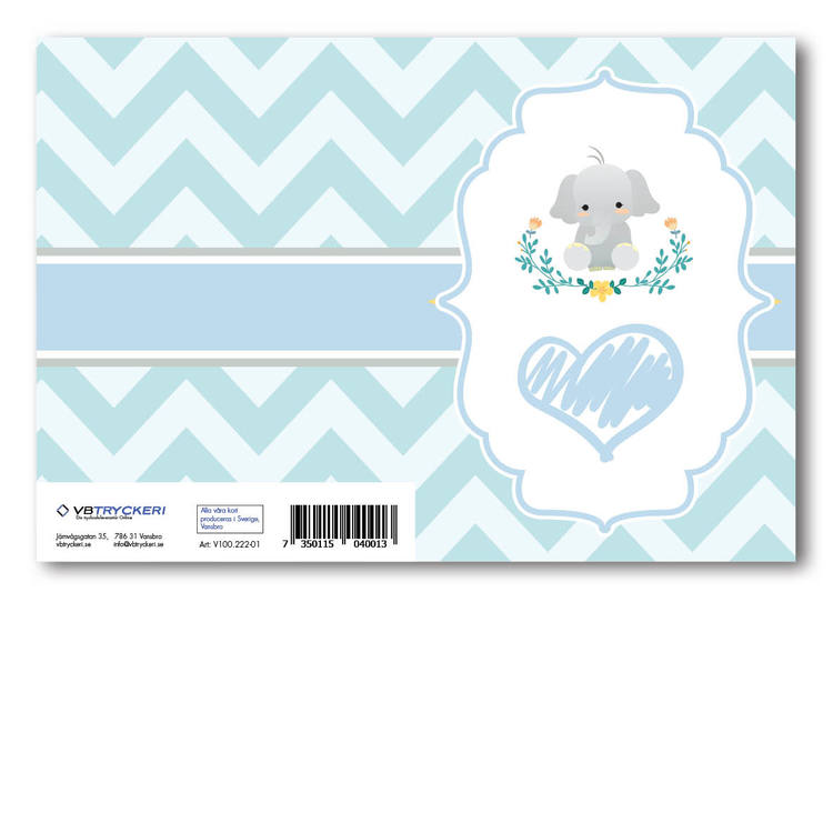 Grattiskort - Baby Elefant V100.222-01