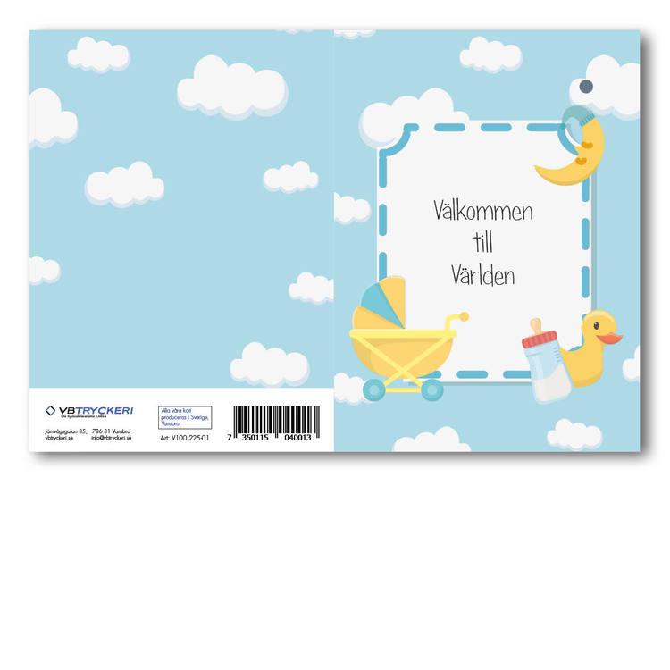 Grattiskort - Välkommen till världen V100.225-01