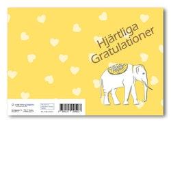 Grattiskort - Hjärtliga gratulationer