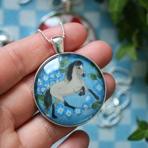 Islandshäst i blått
