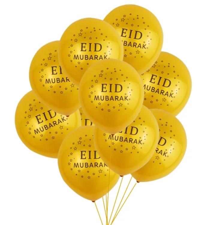 Ballonger, Eid Mubarak, 10-pack