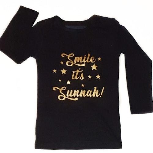 """Långärmad tröja, """"Smile it's Sunnah!"""""""
