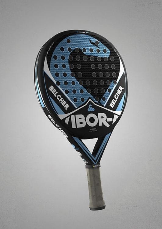Vibor-A  Belcher   Svart / blå      Det mest lättspelade padelracket från Vibor-A