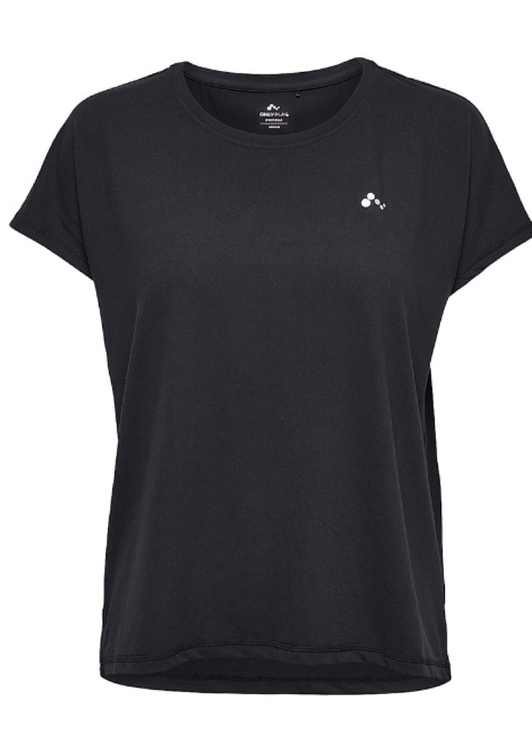 Svart tränings  T-shirt dam Tee opus