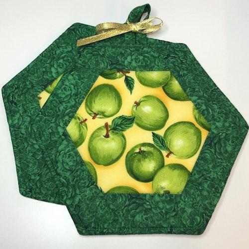 Gröna med äpplen
