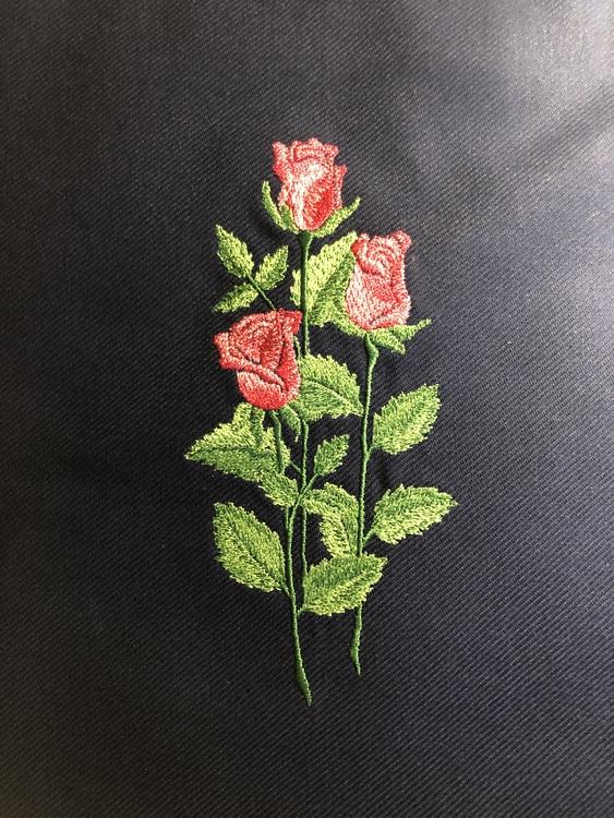 Röda/rosa rosor