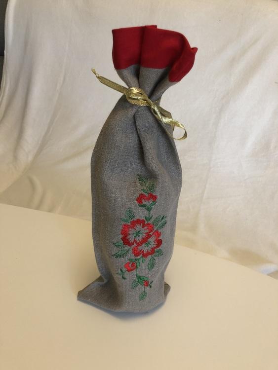 Flaskpåse med blommor