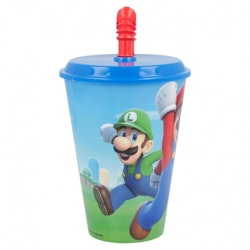 Kopia Super Mario Mugg med sugrör 430 ml
