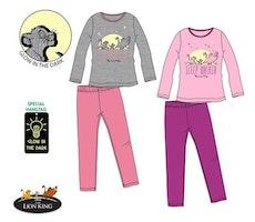Lejonkungen Långärmad Pyjamas Lyser i mörker