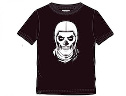 Fortnite T-shirt - Black and white Skull trooper