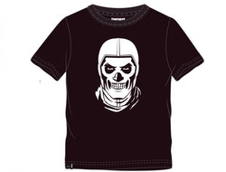 Fortnite T-shirt - Black and white skull