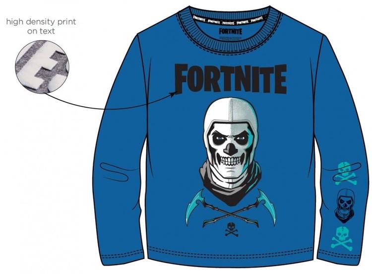 Fortnite Långärmad Tröja - Skull trooper - Blue