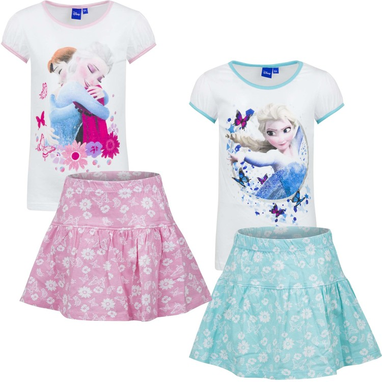 2 - delat set Disney Frost T-shirt & kjol - Summer vibes