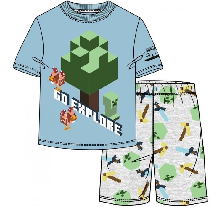Minecraft T-shirt + Shorts - Go explore
